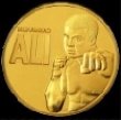 01ALICOIN - Muhammad Ali 24ct Gold Plated Coin